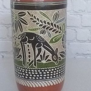 Tall Mexican Ceramic Jug Mug